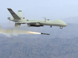 Reaper drone firing missile